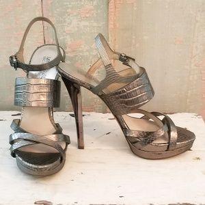 39d9d7fef7d5 Women s Michael Kors Metallic Heels on Poshmark